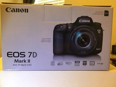 Canon EOS 7D Mark II 20.2MP Digital SLR Camera - Black (Body Only), WiFi enabled