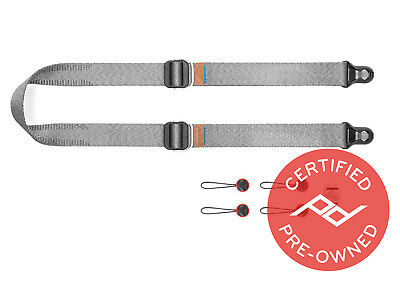 Peak Design Slide Lite Camera Strap V3 (Ash) Lifetime Warranty - PD Certified