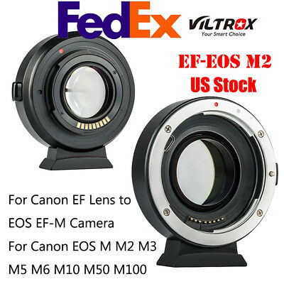 #us Viltrox Ef-Eos M2 Lens Mount Adapter 0.71X For Canon Ef Lens To Eos Ef-M