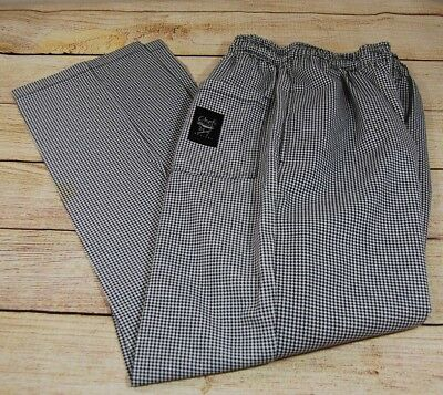 Chef's Pants Medium Black and White Hounds Tooth Chef Revival