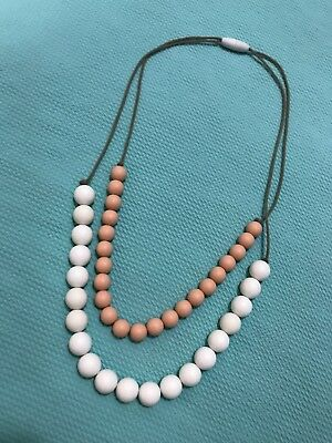 Custom Made Two Tone Silicone Mama Teething Necklace