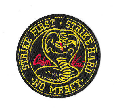 COBRA KAI Iron on / Sew on Patch Embroidered Badge Motif TV PT460