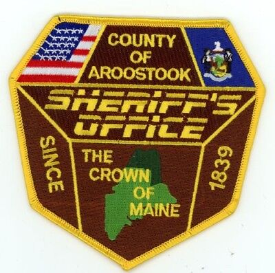 Aroostook County Sheriff Maine Me Patch Police Colorful