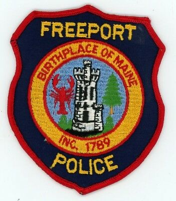 Freeport Maine Me Police Patch Sheriff Colorful