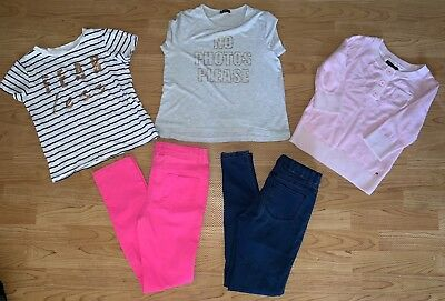Girls Bulk 5 Items - Jeans Pants Top T-shirt Bardot, Tilii, Hilfiger Size 10