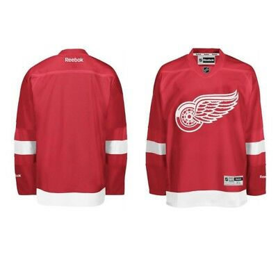 DETROIT RED WINGS Reebok Premier Officially Licensed NHL HOME Jersey,