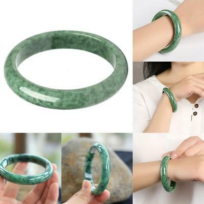 Chinese Beautiful Genuine Natural Green Jade Gems Bangle Bracelet -55-64mm