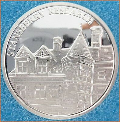 """1 oz .999 Silver """"STANSBERRY RESEARCH"""" Northwest T. Mint  Art Round/Bar E23"""