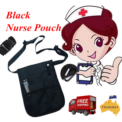 Nurse Pouch Pocket Waist Bag Quick Pick Vet Nurses Belt Black AU