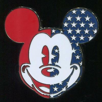 ccd9440a9f8 STARS AND STRIPES Mickey Mouse Silhouette Patriotic USA Flag Disney ...