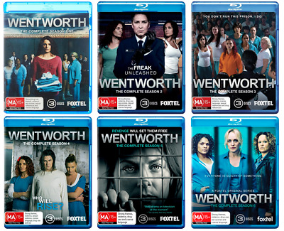 Wentworth Complete Seasons 1 2 3 4 5 & 6 Blu-ray New 18 Disc Set, Series 1-6
