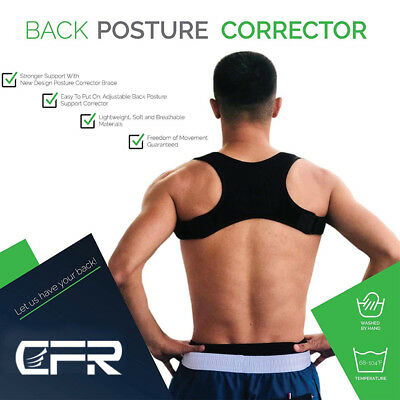 CFR Shoulder Support Posture Corrector Brace Therapy Pain Relief Adjustable Back