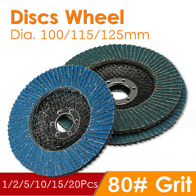 100 /115 /125mm Flap 80 Grit Discs Wheel Angle Sanding Grinder Rotary Tools NEW