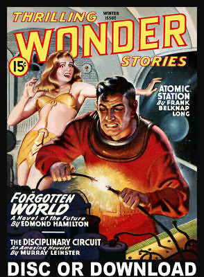 52 WONDER STORIES - GOLDEN AGE SCIENCE FICTION PULP Full Scans Disc or Download