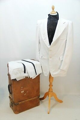 1970s White Suit and Black Shirt