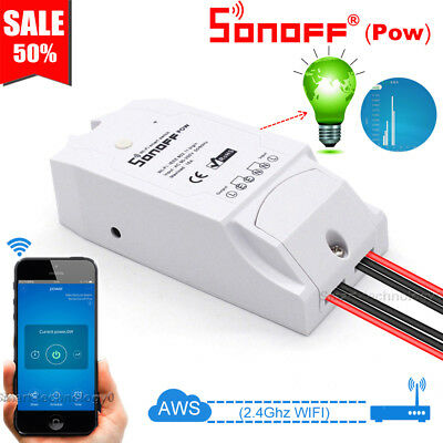 Sonoff Pow Wireless WiFi Smart Power Monitor Switch APP Ctrl 16A For IOS Android