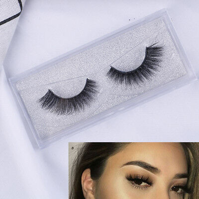 3D 100% vison Soft long naturel épais maquillage faux cils