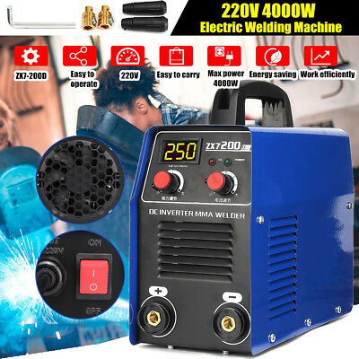 ZX7-200D 220V 4000W Portable Welding Machine MMA ARC Welder IGBT Solder Inverter