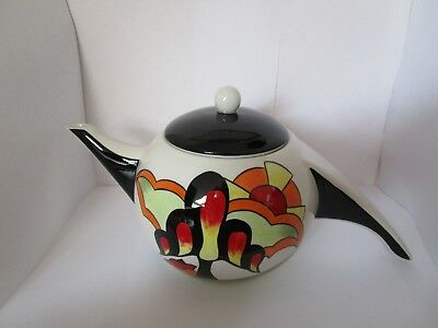"""Lorna Bailey """"Cherry Hill"""" Art Deco Style Teapot. Limited Edition of 25 only."""
