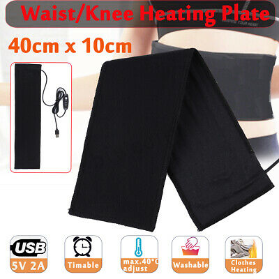 USB Washable Clothes Heating Pad Waist Knee Heating Plate Warming Mat Thermal