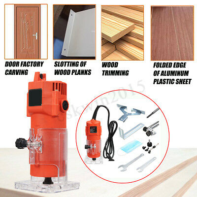 600w 6.35MM Electric Hand Trimmer Wood Laminator Router JoinersTool 220V 28000