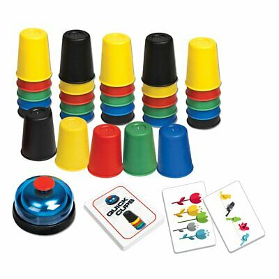 Quick Cups Game 24 Picture Card 30 Cups Bell & Instruction Sheet Party Game EA