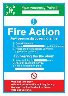YOUR ASSEMBLY POINT-FIRE ACTION  PLASTIC Sticker-148 x 210mm(L1026)