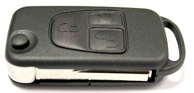 Replacement 3 button flip key case for Mercedes ML class remote fob 1997 - 2005