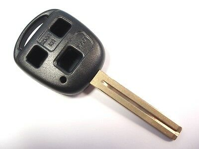 Replacement 3 button key case for Toyota Corolla Rav4 Celica Camry Yaris remote