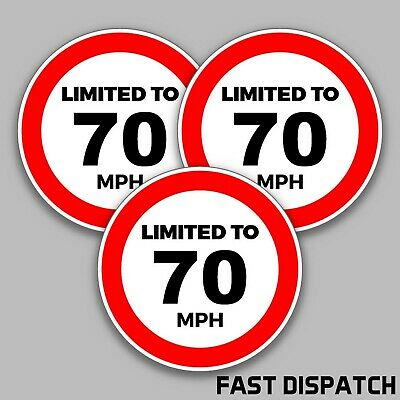 2 X Speed Limit Stickers-Limited To 70 Mph Stickers(L1005)