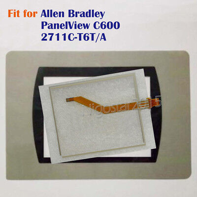 for Allen Bradley PanelView C600 2711C-T6T/A Touch Screen Panel + Film New