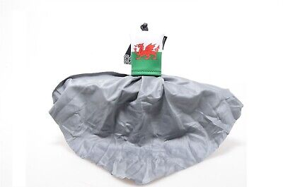 Spudz Welsh Flag 10 x 10 Cleaning Cloth 18% Grey