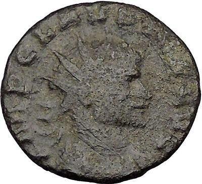CLAUDIUS II Gothicus 268AD  Ancient Roman Coin Victory Nike Angel RARE  i35772