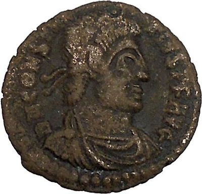 CONSTANTIUS II Constantine the Great son Ancient Roman Coin Battle Horse i42448