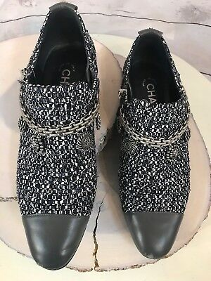0c70e64a4c2c AUTHENTIC CHANEL SHOES Lucky Charms tweed gray size 37 -  395.00 ...
