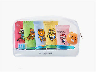 KAKAO FRIENDS Travel Wash Kit(7 items) Wash&Dental Care All in One Set Bath Set