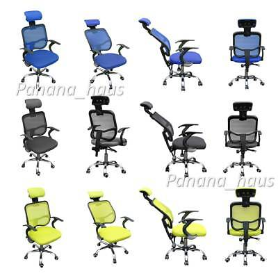 Home Office Racing Gaming Chair Height Back Recline Adjustable Swivel Gifts