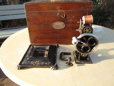 "Rare  c1880 ~ ""The Dorman"" Miniature Sewing Machine , With Its Shuttle ."