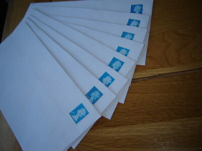 10 X  2ND  CLASS  PRE STAMPED DL SELF SEAL ENVELOPES  ( no window )