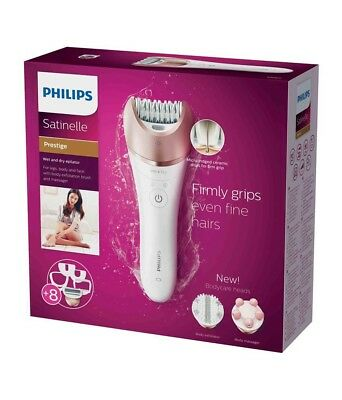 Philips BRE650/00 Satinelle Prestige Epilatore Wet & Dry 8 Accessori