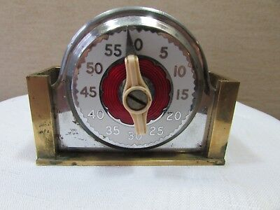 Vintage steel Egg Timer with Brass base unique