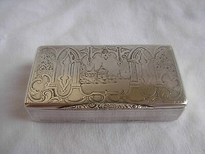 ANTIQUE FRENCH SOLID SILVER SNUFF BOX,LATE 19th CENTURY,