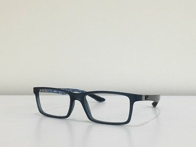 2a1aa5eb830 142 Ray Ban RB 8901 5262 Rectangle Blue Eyeglasses Optical Frame 53-17-145