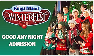 1 Cedar Fair Kings Island WinterFest 1-Day Park Admission Ticket, Mason, OH