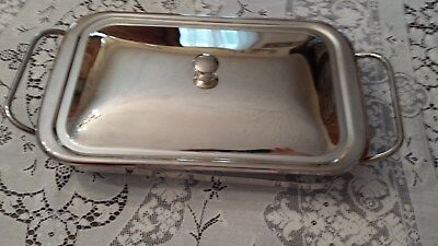 Silverplate Covered Buffet Server, Casserole with Glass Insert, Perfect