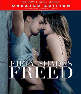 New! Fifty Shades Freed Unrated Ed Blu-ray + DVD + Digital w/ Slipcover - Dakota