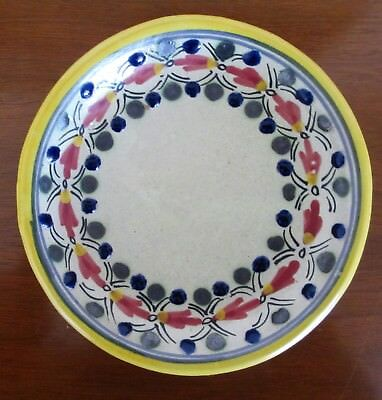 """Vintage Talavera Pottery Plate Handmade and Hand Painted Tlaxcala, Mexico 6 1/2"""""""