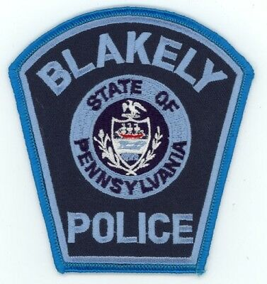 Blakely Police Pennsylvania Pa Patch Sheriff Colorful