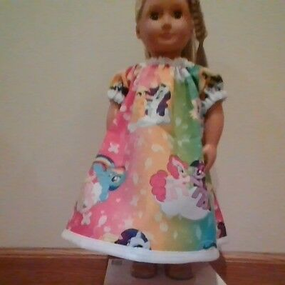 New Generation Doll Clothes My Little Pony Rainbow Nightgown Fits 18In Doll