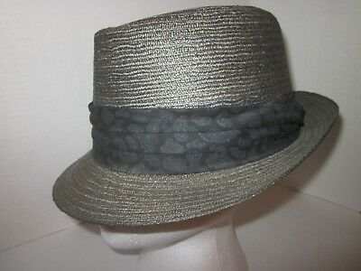 1fcf386a2ab Vintage Biltmore Koolaire Milan Straw Hat Fedora Size 7 1 8 Snap-amatic